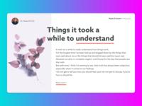 Daily UI 035 - Blog Post
