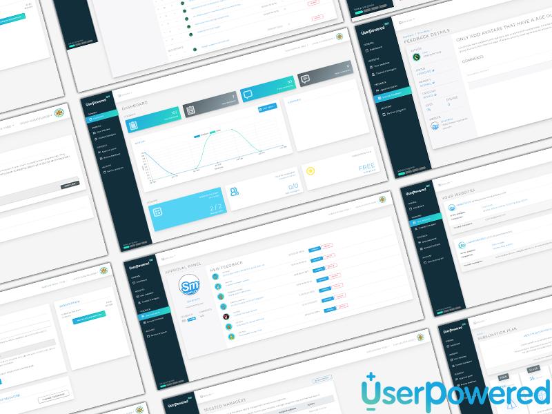 UserPowered UI widget feedback website account dashboard uxui ux uidesign ui