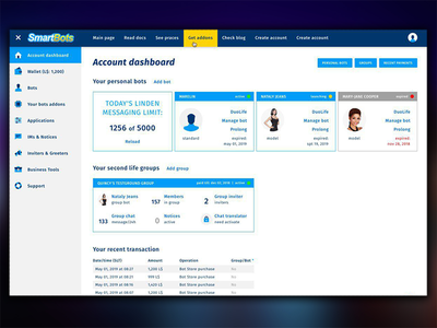 Account Dashboard - SmartBots