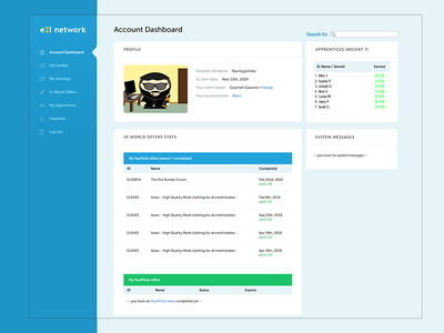 E2L Account Dashboard