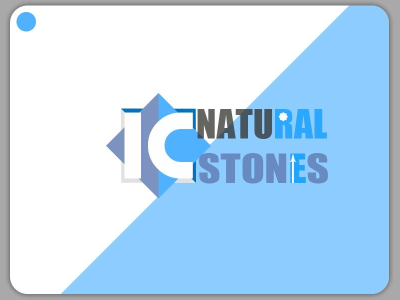 IC Natural Stones logo logotype branding design logodesign logo