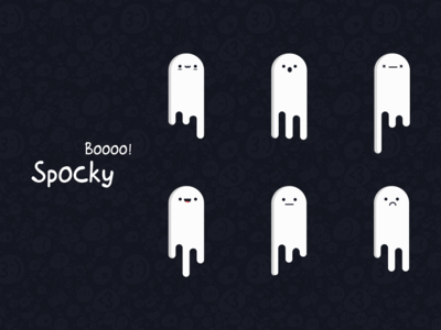 Spocky —  ghost stickers