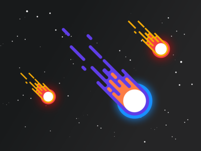 Flying meteorites