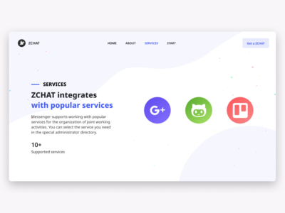 ZCHAT —  page about services