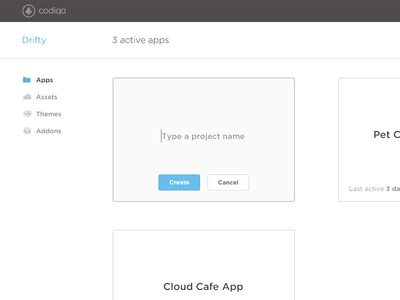 New Project UX