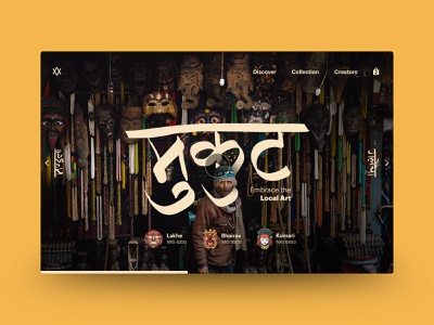 Handicraft Nepal lovechand userinterface nepali kathmandu slider store handicraft ecommerce website interface minimal mask nepal typography ui design creative banner web ux ui