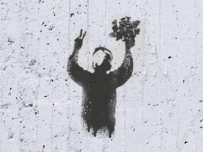 Stencil Happy Valentine from Syria