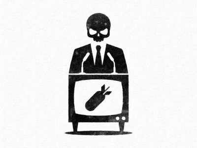 Politicians and media illustration icon speech peace war tv media propaganda politician politics