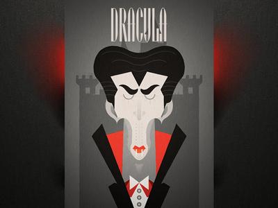 Dracula halloween poster typography castle blood dark scary vampire dracula