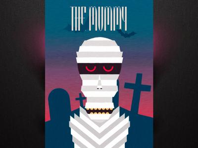 The Mummy graveyard grave monster halloween poster typography castle blood dark scary dead mummy