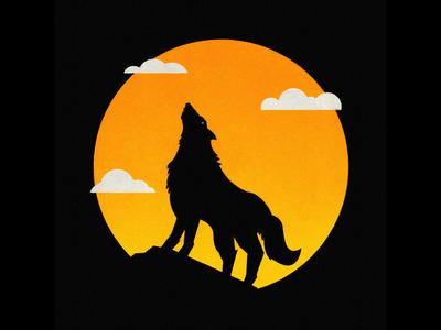 Wolf cat green wild wood branch leaf jungle moon wolf