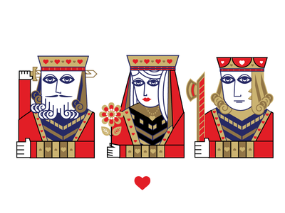 Hearts spades diamonds hearts blackjack poker black clubs cards playing cards king queen jack