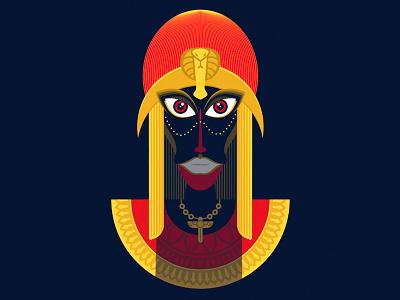Goddess one god princess beautiful face portrait egypt queen goddess