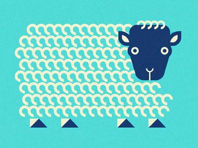 Sheep fur face wild picasso abstract minimal animal sheep