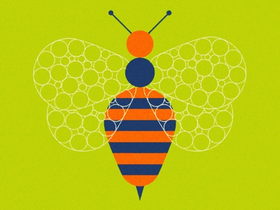 Bee fur face wild picasso abstract minimal animal bee