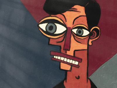 Portrait painting picasso avatar head eyes illustration portrait face