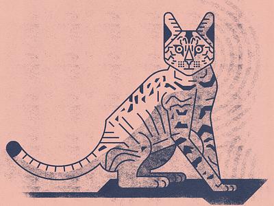 Cat experiment halftones cat logo animal tiger cats