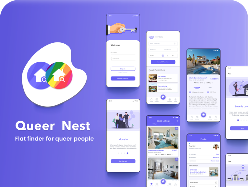 Queer Nest - Flat finder for the LGBT 🏳️‍🌈