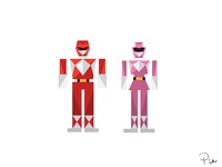 Red & Pink Ranger