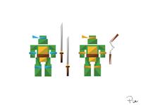 Leonardo & Michelangelo