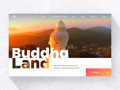 Meditation and yoga website concept meditation yoga app web website design website ux ui design