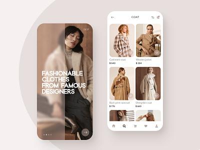 Fashion Shopping Online App shopping design ux ui clean shop web design website mobile ui minimalism minimal application beige ecommerce store inspiration inspire phone clothes luxury