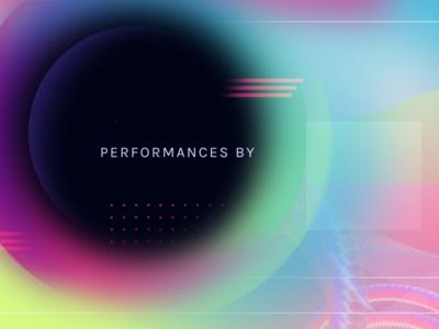 Vivid Sydney Title Card shapes gradiant typography color motion