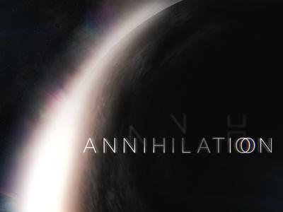 Annihilation Title Card compositing movie mograph motion title card typography type