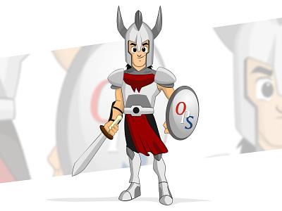 OPS Knight kayrex cartoon design character warrior knigh