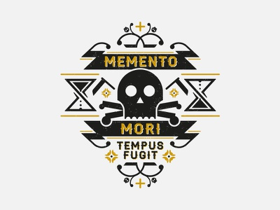 Memento Mori bones skull design illustration