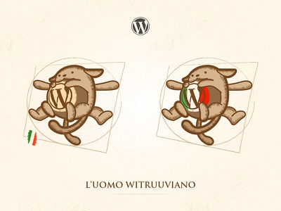 Wapuu Italia illustration design wapuu wordpress