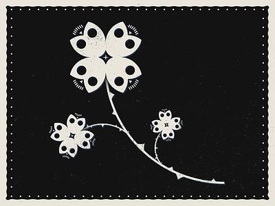 Death blooms flower death vector illustration