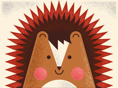 Hedgehog kids art hedgehog design illustration