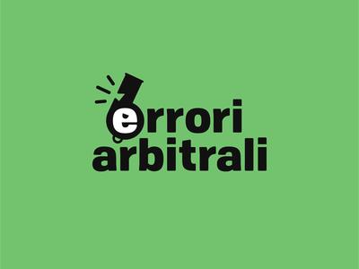 Errori arbitrali - logo design