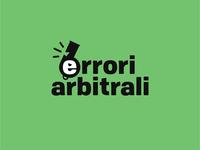 Errori arbitrali - logo design logodesign branding sport soccer football