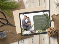 A save-the-date card