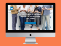 Redesign of the LinkedIn landing page