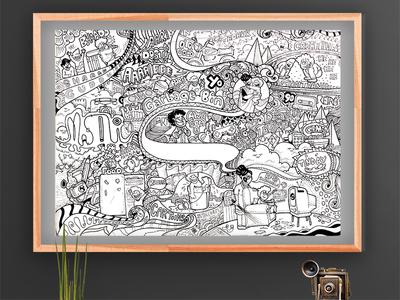 First Shot - Doodleart for Garbage Bin Comics