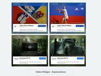 Video-Ads Widget Exploration