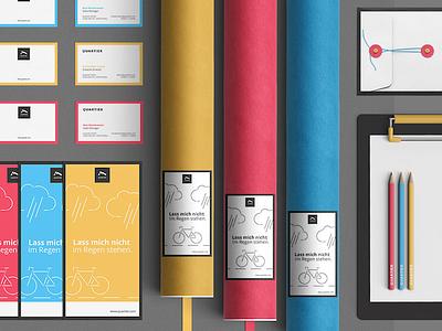 """CORPORATE DESIGN """"QUARTIER"""" branding colorfull"""