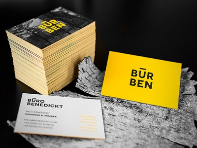 Benedickt Business printdesign information inspiration businesscards