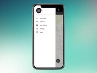 Mobile app redesign - side menu