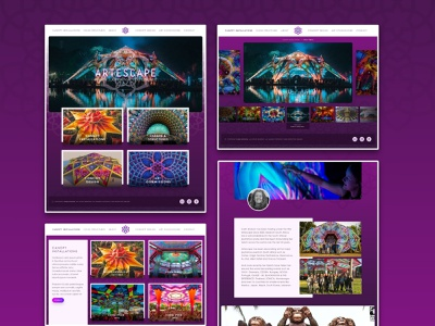 Artescape.co.za webflow carin dickson art decor festival artescape colourful redesign ux ui