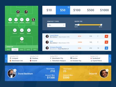 Football App UI Elements