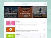 Unicorner home page