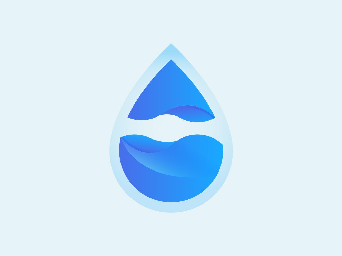 Water Drop ui blue adobe illustration app icons cute illustration colourful design branding vector gradient logo design logo