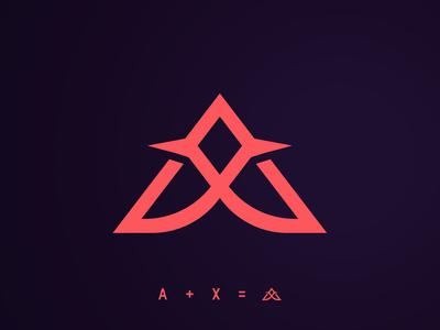 AX Logo minimal luxury monogram letter mark monograms monogram design monogram logo monogram design branding vector gradient logo design logo