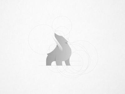 Logo Construction bears bear illustration bear logo bear ice artic logo mark blackandwhite black white logo construction grid layout grid blue illustration app icon cute animal branding gradient logo design logo