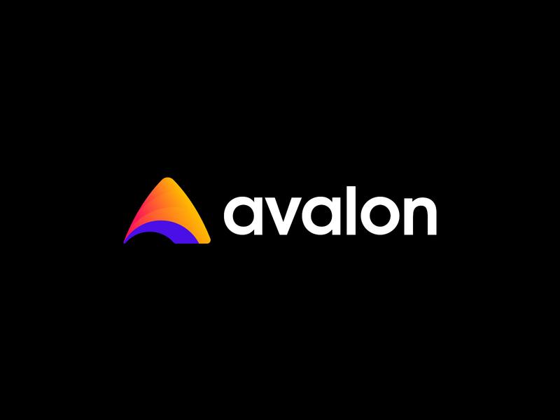Avalon Logo Design logo design branding branding agency branding design brand logo designer bright color combinations bright colors blue orange logos adobe illustration logotype logodesign colourful design vector gradient branding logo design logo