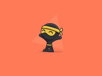 Cute Little Ninja pin sticker design sticker art cute illustration illustration art illustrations illustraion illustrator ninja mascot logo design ninjas ninja cute ninja cute art cute illustration colourful
